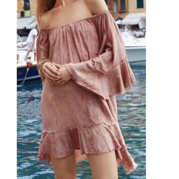 Elan Dresses & Skirts - NWOT Elan Blush Pink Bell Sleeves Dress